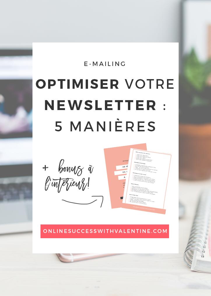 5 manières d'optimiser votre newsletter