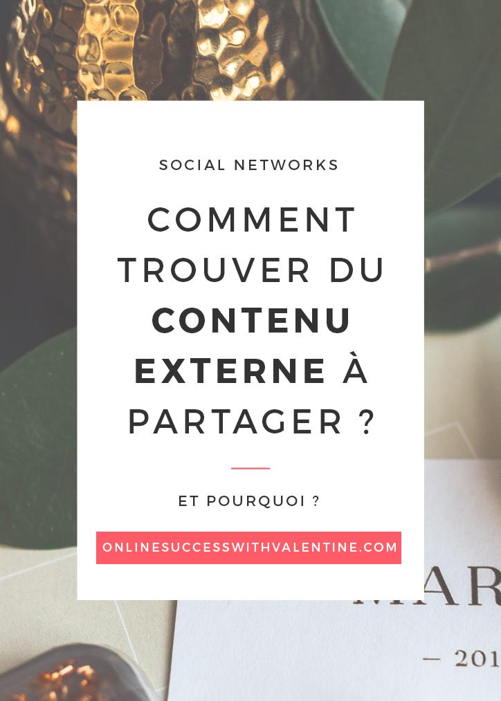 Comment trouver du contenu externe à partager sur sa page Facebook ?