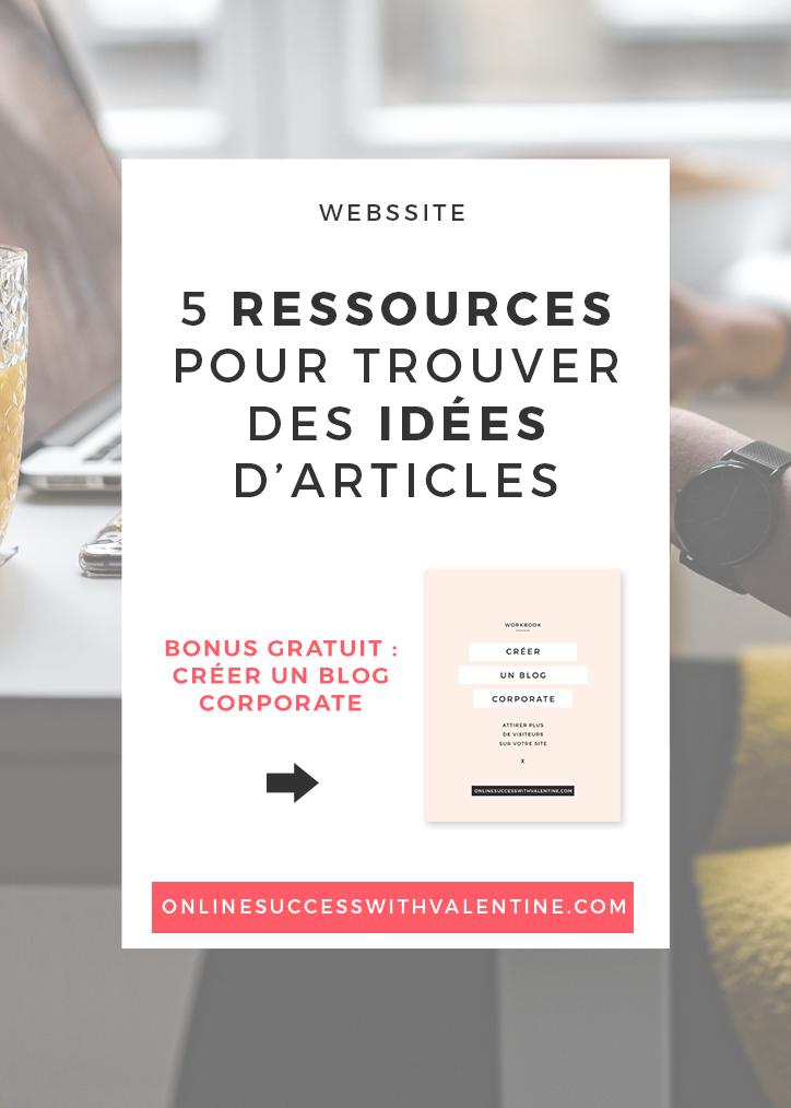 5 ressources pour trouver des idées d'articles